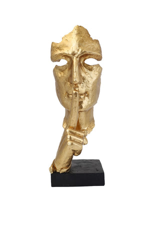 GOLD RESIN FACE SCULPTURE