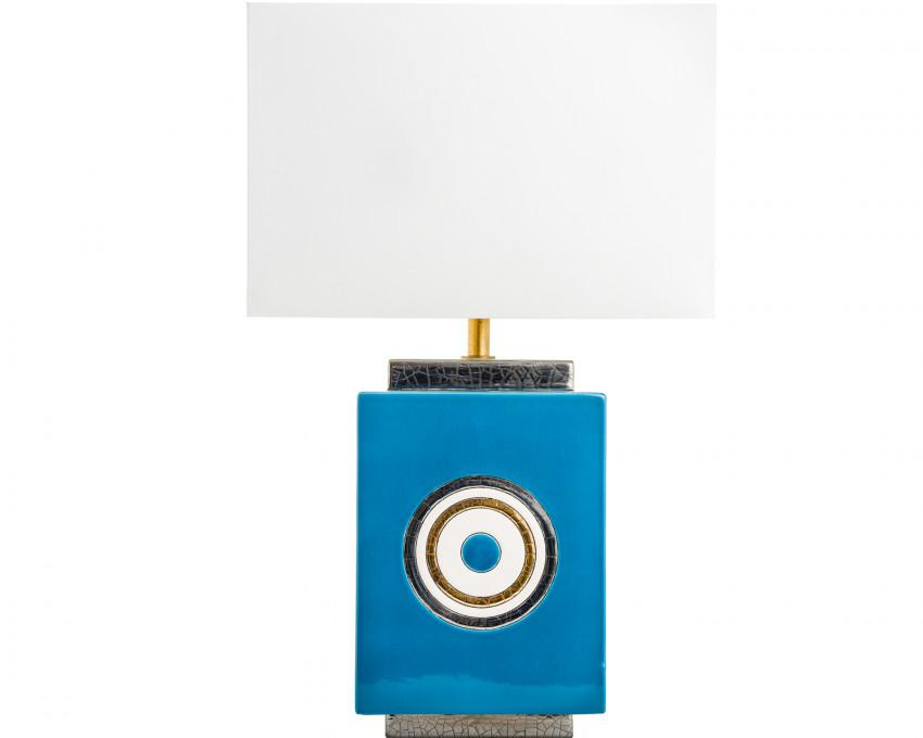 Emaux De Longwy Carre' Lamp - Turquoise