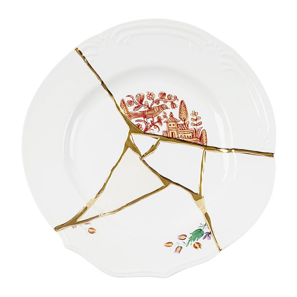 """KINTSUGI N'1"" DINNER PLATE IN PORCELAIN"