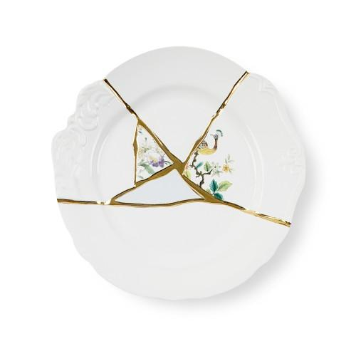 """KINTSUGI N'2"" DINNER PLATE IN PORCELAIN"