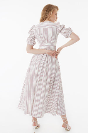 EXQUISE BALLOON SLEEVE DRESS