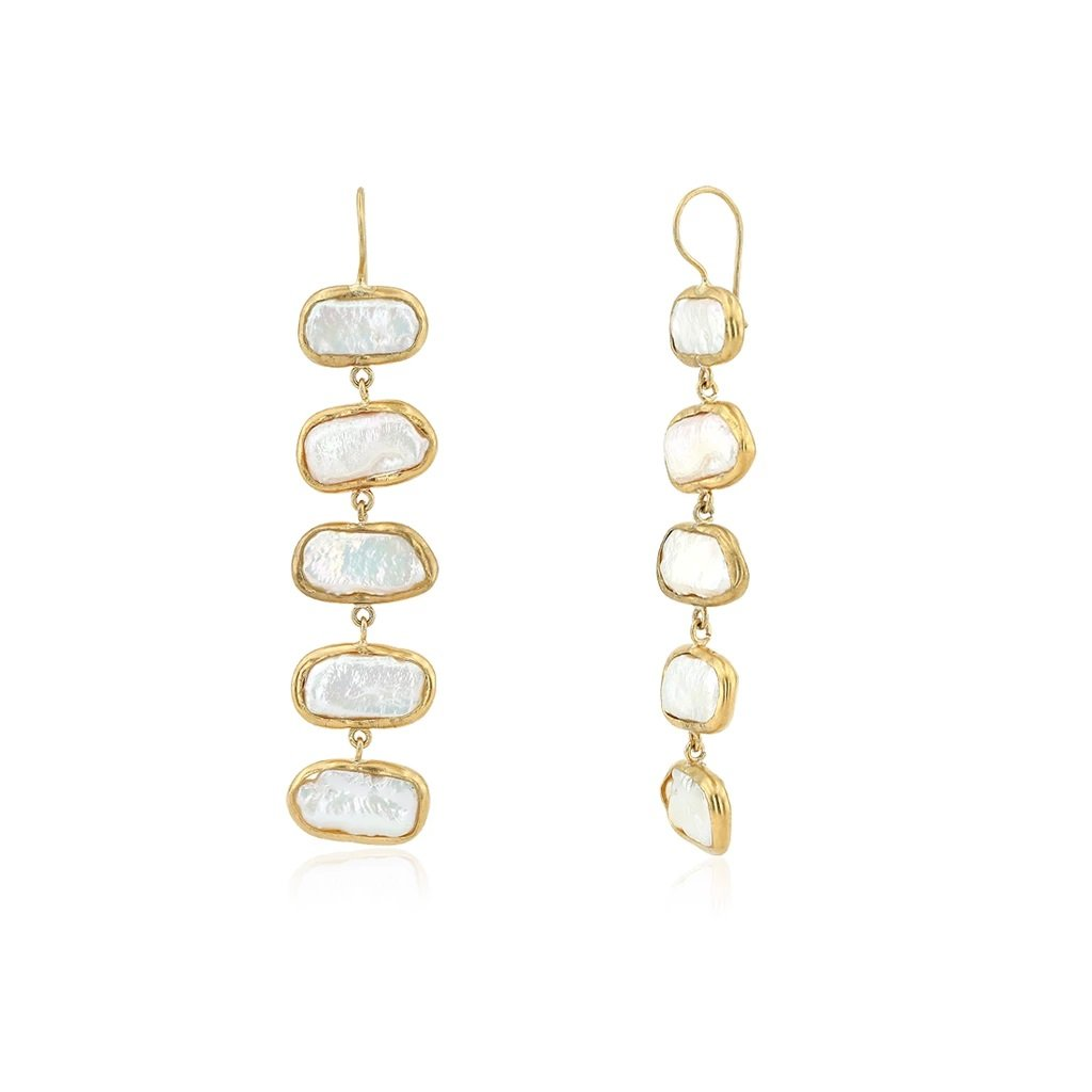 BEZEL MOP EARRINGS