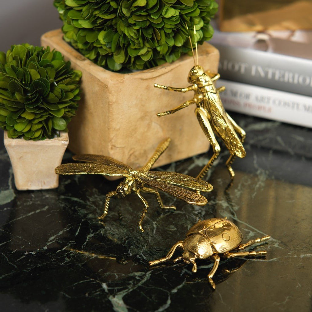 DECORATIVE GOLD LADYBUG