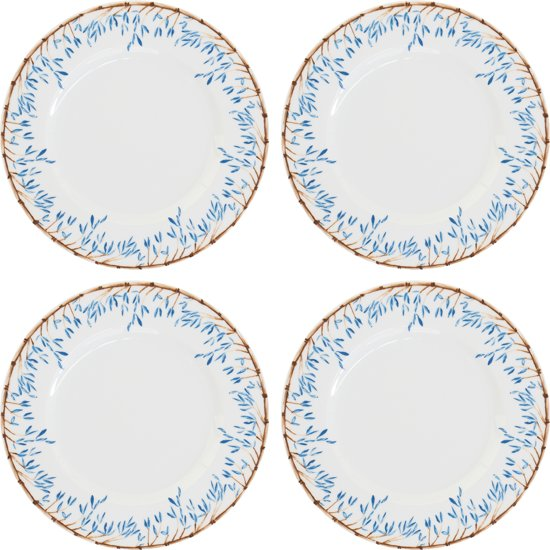 Blue Bamboo Plates