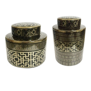 CERAMIC POT ( SET OF 2)