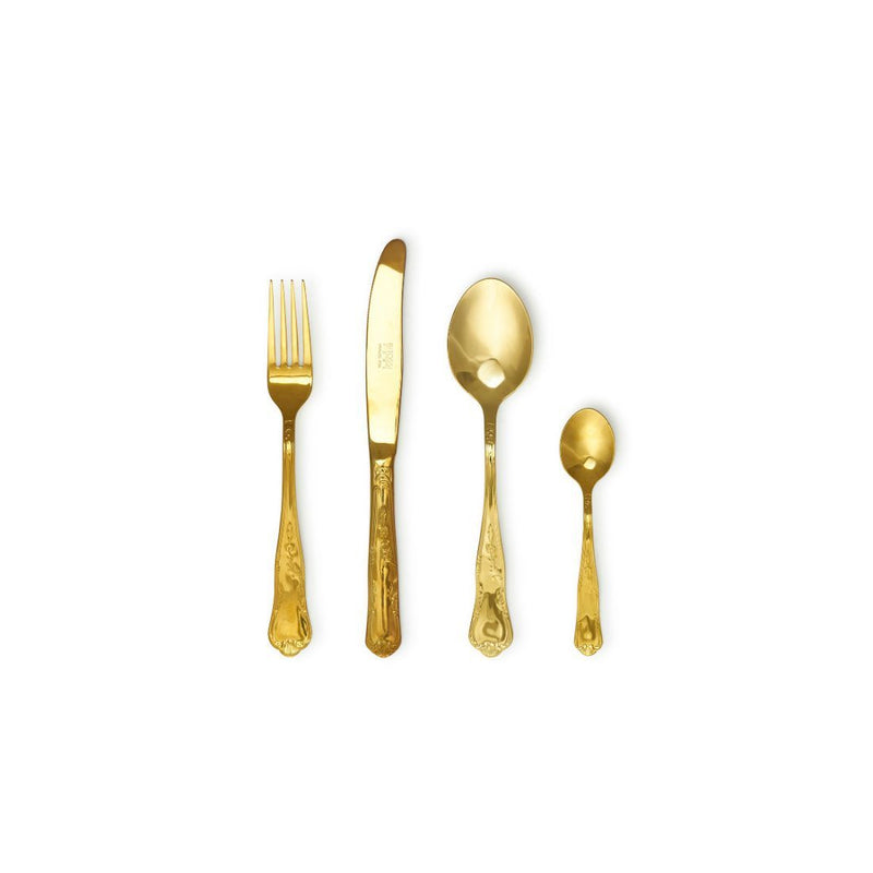 Bitossi Home Table Set 24 Pcs Gold Shiny Samba - Cutlery