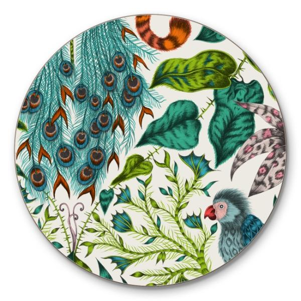 JAMIDA Jamida Coaster Cork - Amazon/Green, Set Of 6