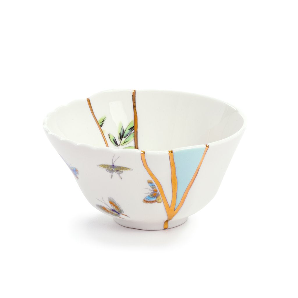 """KINTSUGI N'2"" BOWL PLATE IN PORCELAIN"