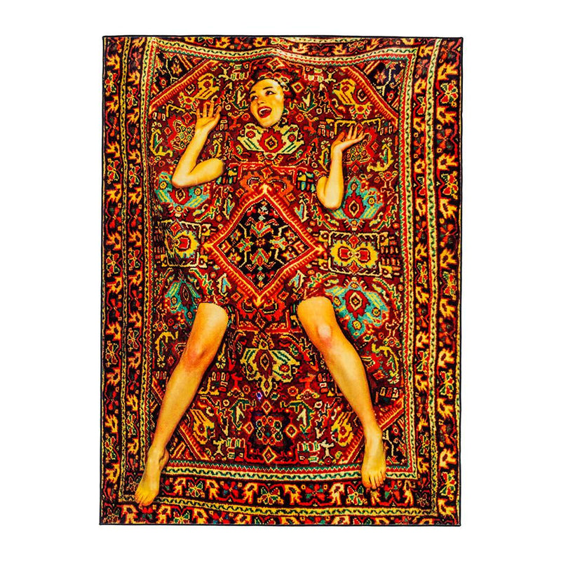 "SELETTI Lady On Carpet Rug ""Toiletpaper"" - Polyester"