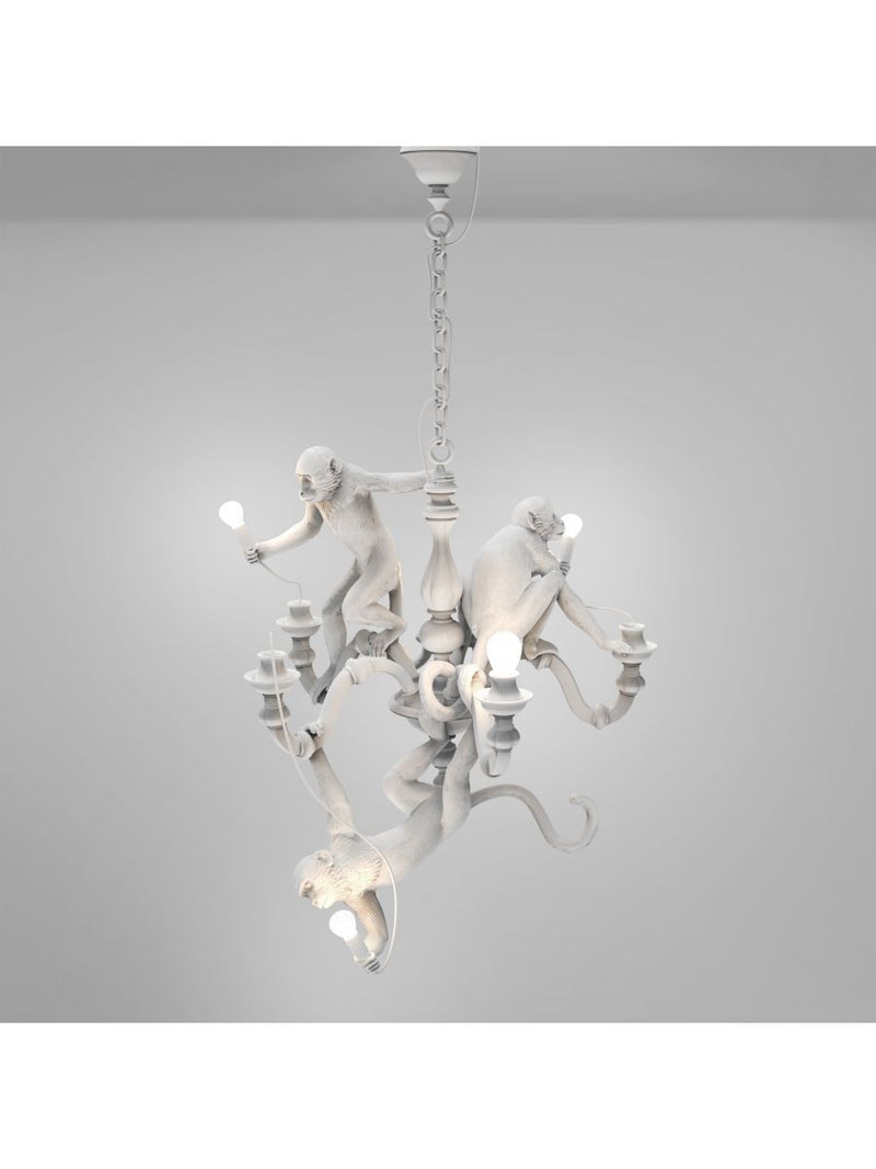 SELETTI MONKEY CHANDELIER WHITE