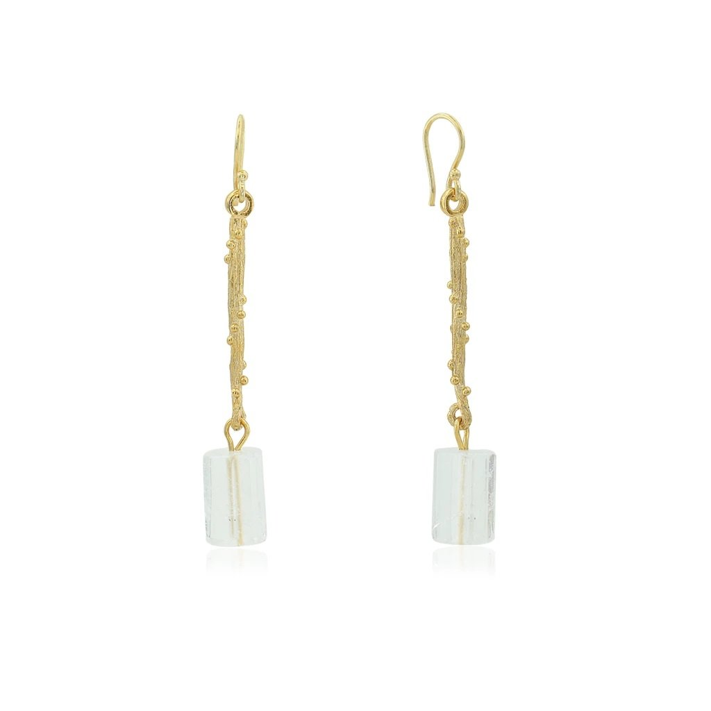 QUARTZ LINEAR EARRINGS