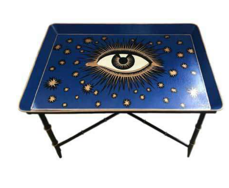 EVIL EYE HAND PAINTED COFFEE TABLE