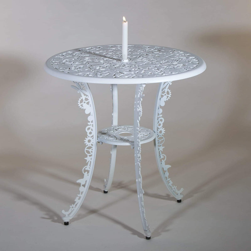 "ALUMINIUM ROUND TABLE ""INDUSTRY COLLECTION"" - WHITE"