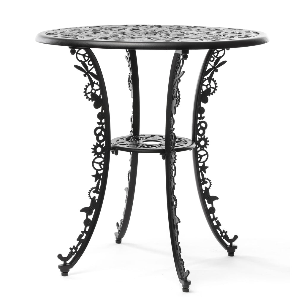 "ALUMINIUM ROUND TABLE ""INDUSTRY COLLECTION"" - BLACK"