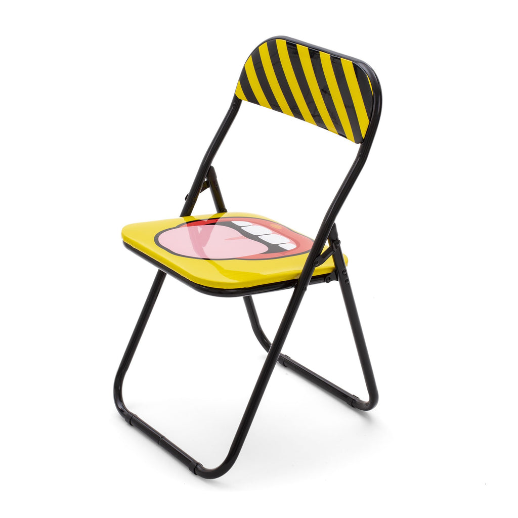 "TONGUE ""STUDIO JOB-BLOW"" METAL FOLDING CHAIR"