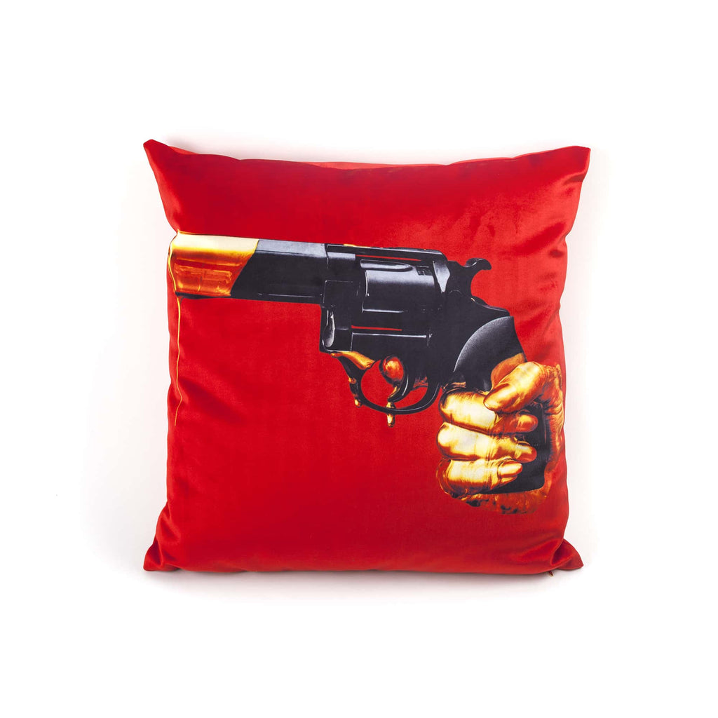 "SELETTI CUSHION BY ""TIOLETPAPER"", REVOLVER"