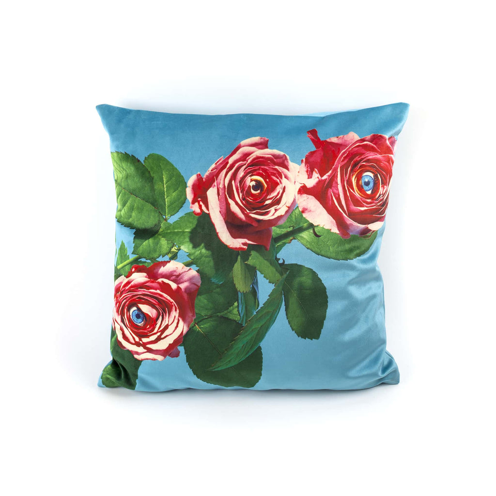 "SELETTI CUSHION BY ""TIOLETPAPER"", ROSES"