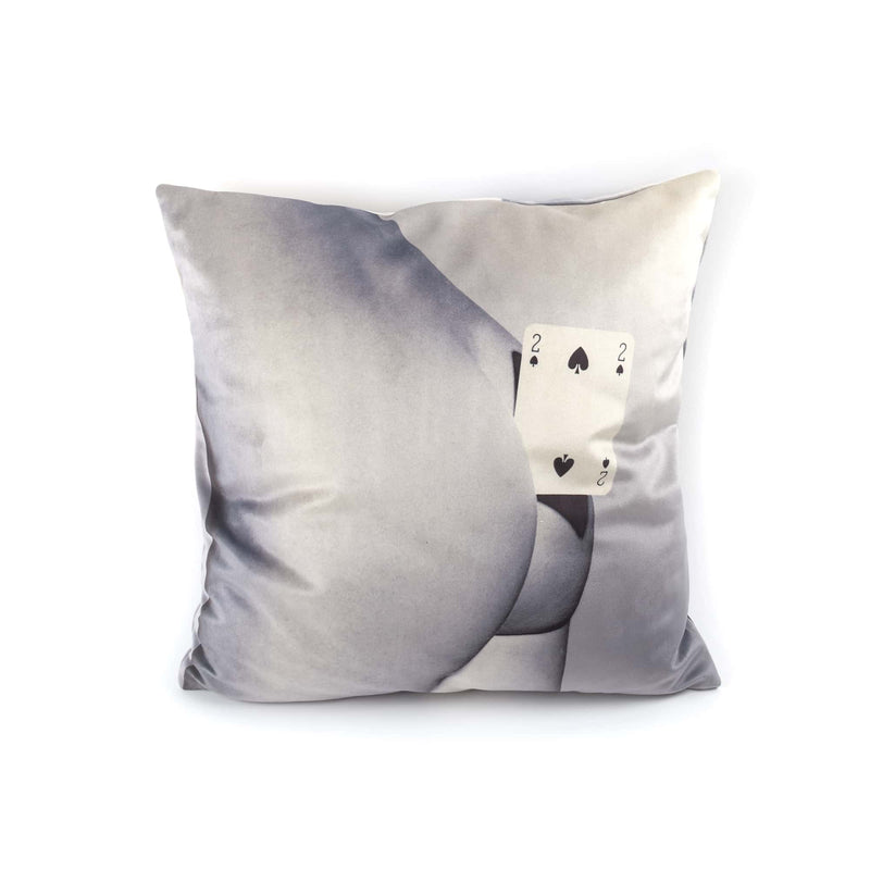 SELETTI x TOILETPAPER TWO OF SPADES PILLOW