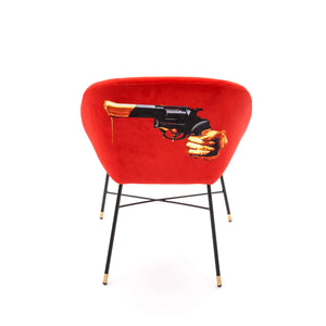 "UPHOLSTERED CHAIR REVOLVER ""TOILETPAPER"""
