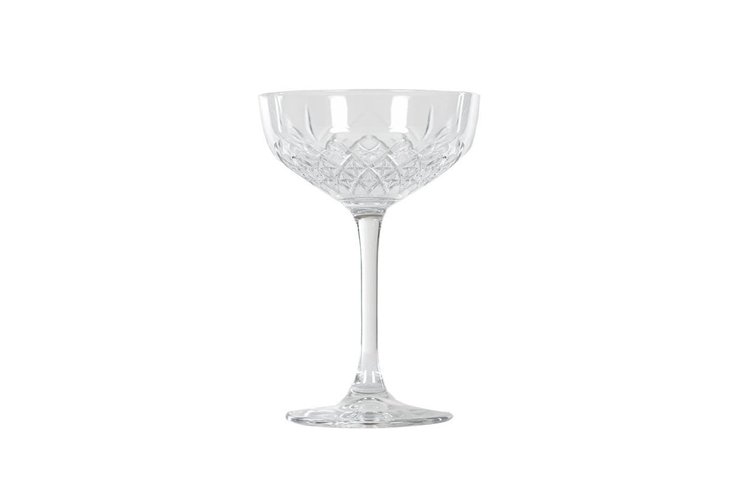 SET OF 4 CHAMPAGNE COUPE GLASSES