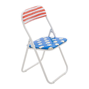 "POPCORN ""STUDIO JOB-BLOW"" METAL FOLDING CHAIR"