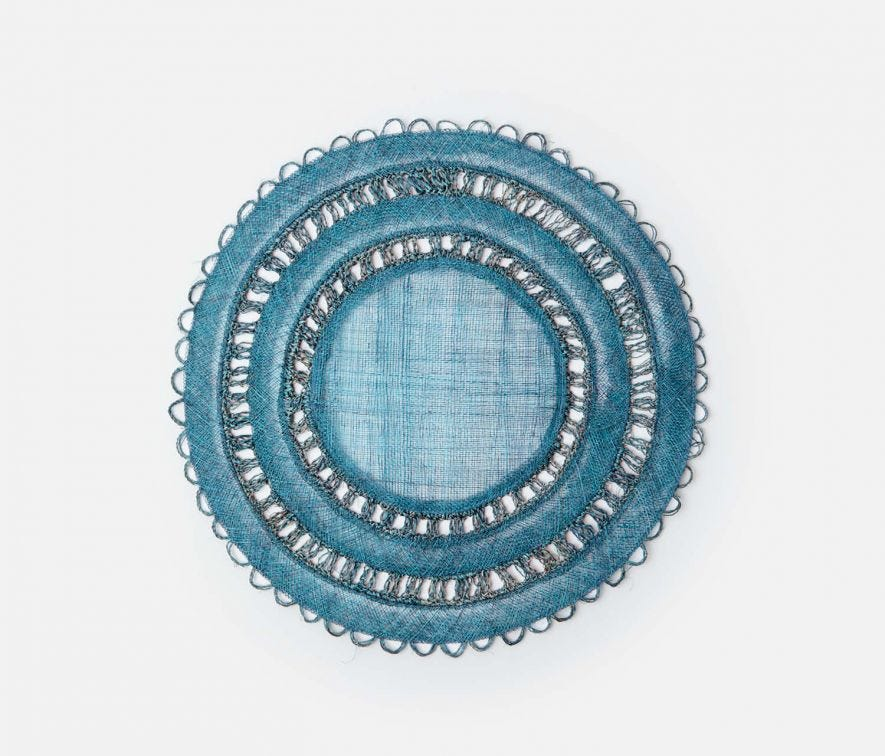 DEEP BLUE CARMIN ROUND PLACEMAT (SET OF 4)
