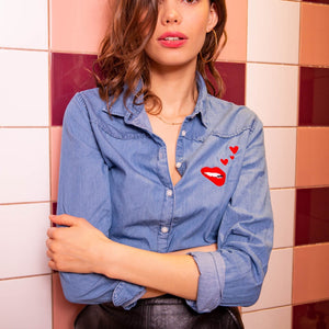 DENIM MARTINA LOVE SHIRT