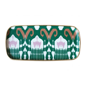 IKAT RECTANGLE PLATE GREEN