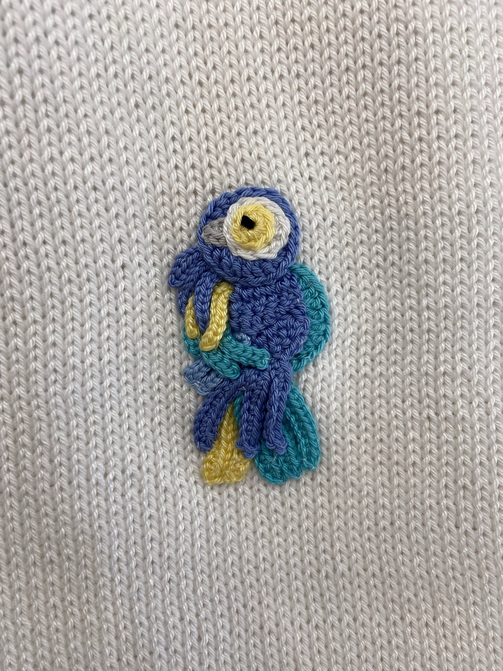 PARROT KNITTED BLANKET