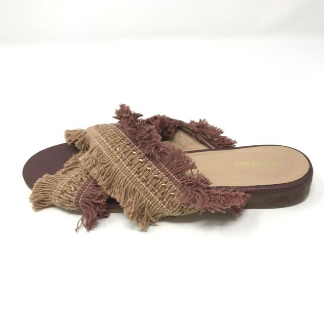 IBIZA FRAYED WINE SANDAL