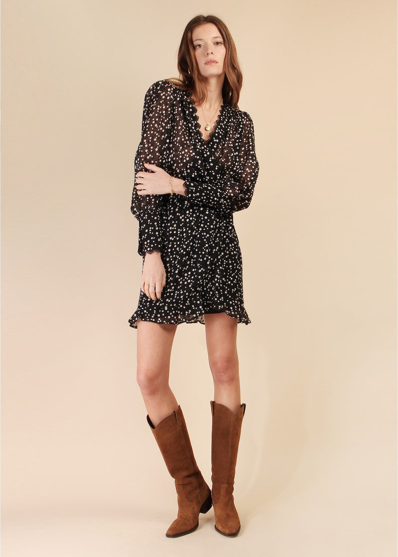BELIZE POLKA DOT SHORT DRESS