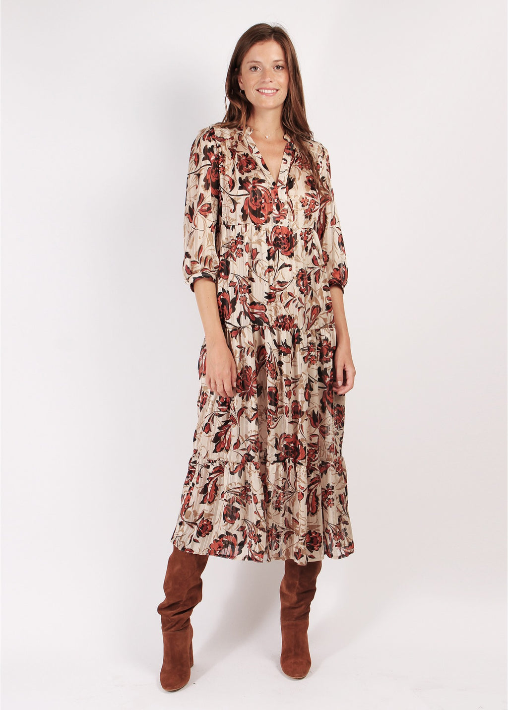 ROBE TESSA GARDENIA LONG DRESS