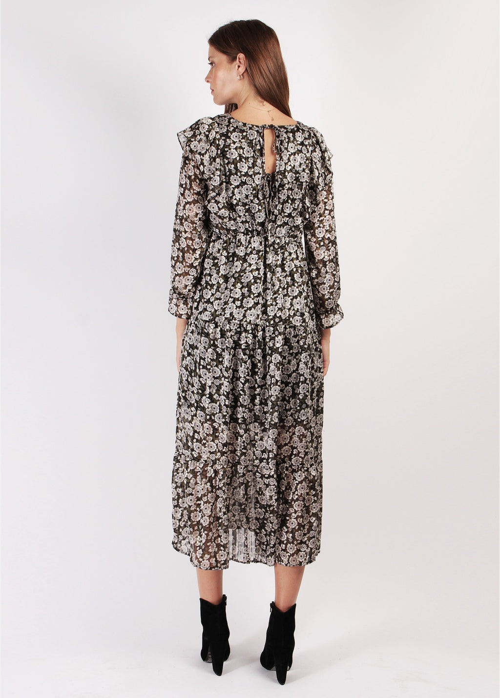 ROBE PALOMA FLORAL LONG DRESS