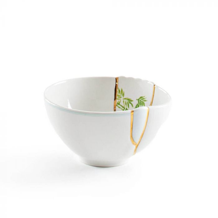 """KINTSUGI N'3"" BOWL PLATE IN PORCELAIN"
