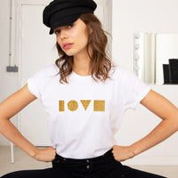 GASTON LOVE GOLD  T-SHIRT