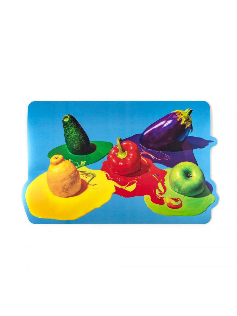 """TOILETPAPER"" PLACEMAT VEGETABLES (SET OF 2)"