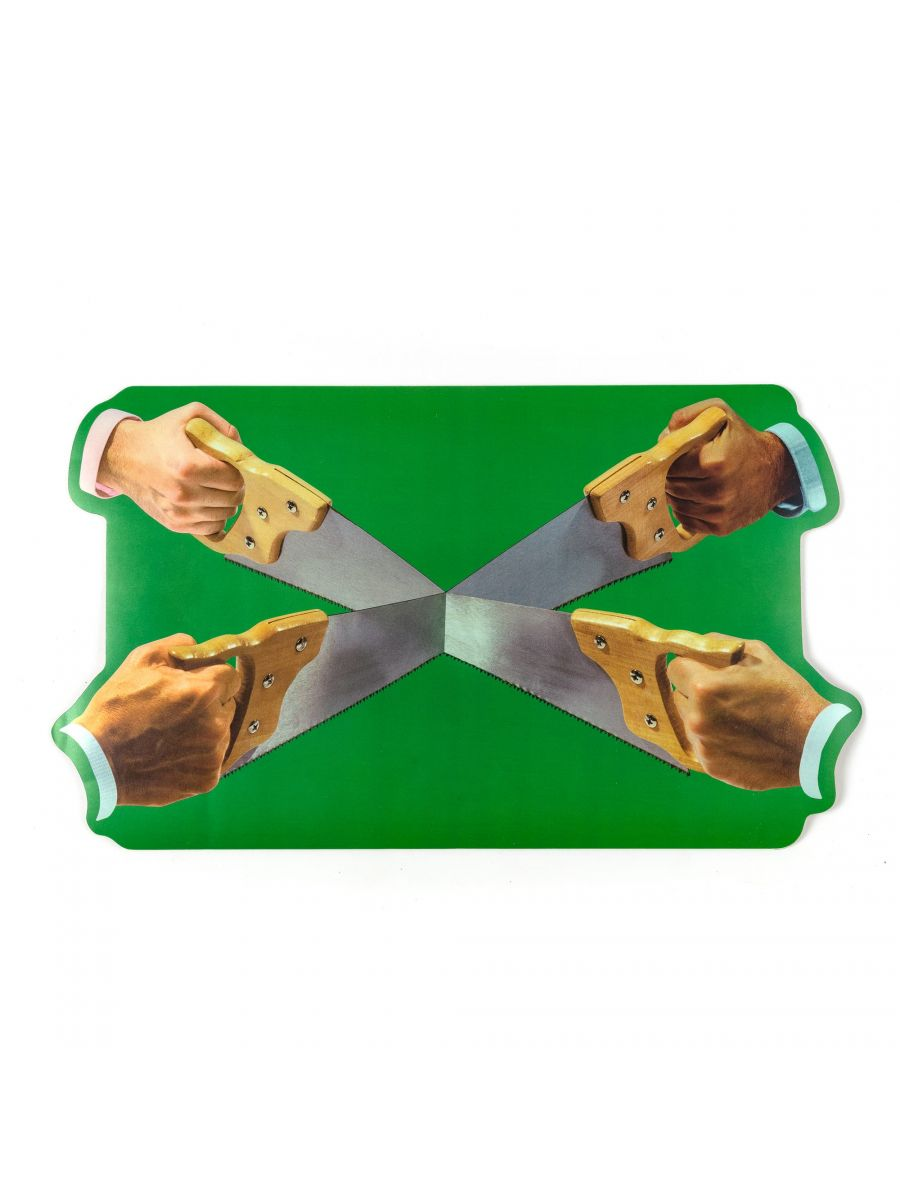 """TOILETPAPER"" PLACEMAT SAWS (SET OF 2)"