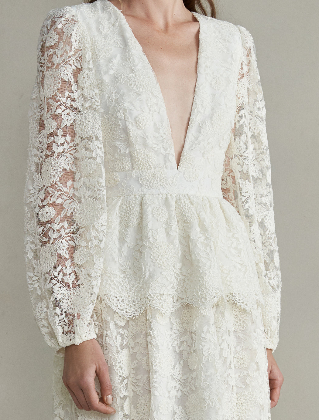 Aphrodite White Lace Gown