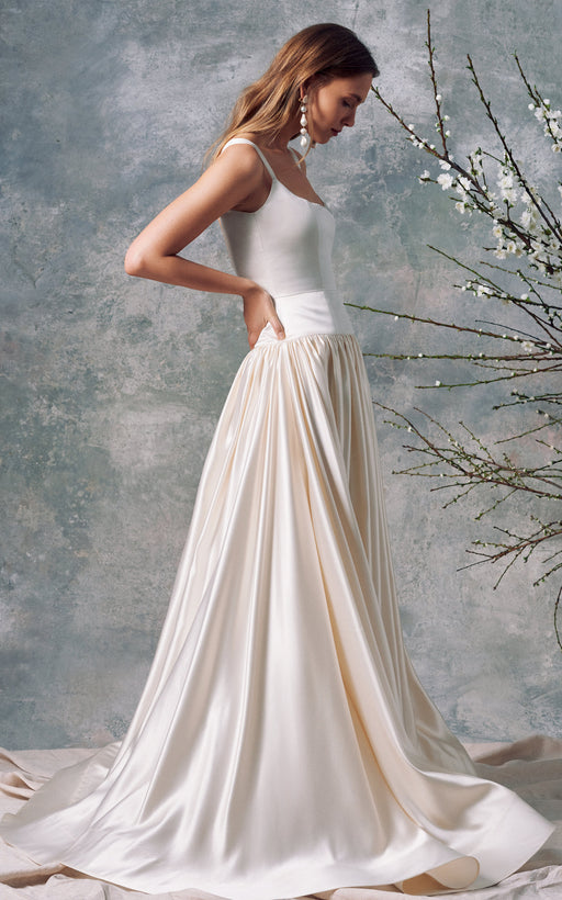 Aura White Silk Gown