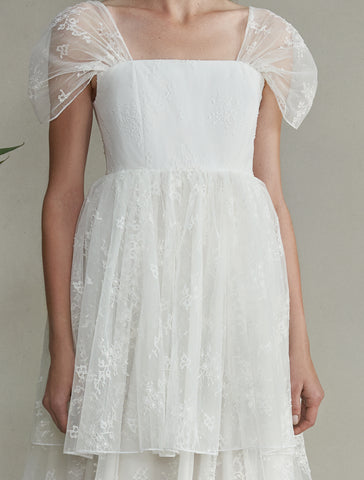Aurora White Lace Gown