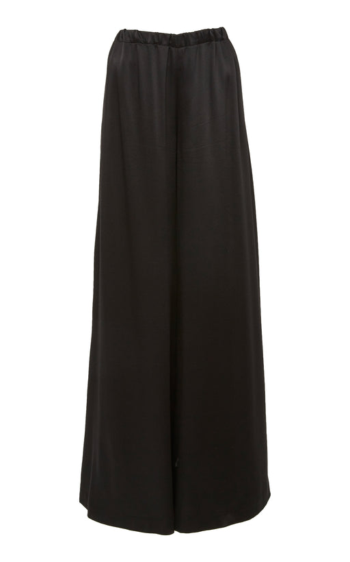 Black Satin Wide Leg Pant