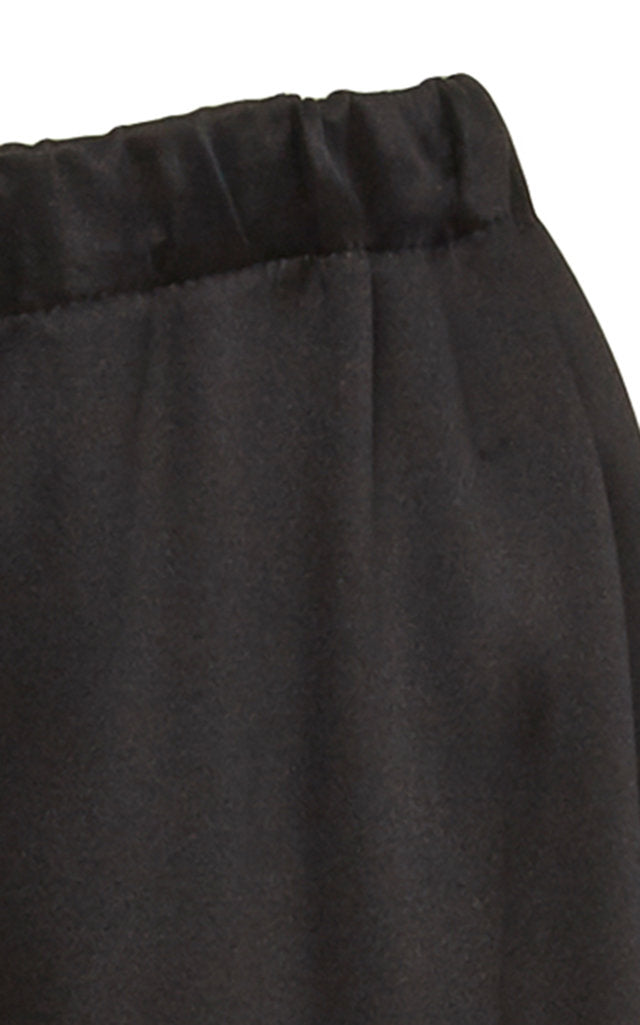 Renzo Black Satin Wide Leg Pant