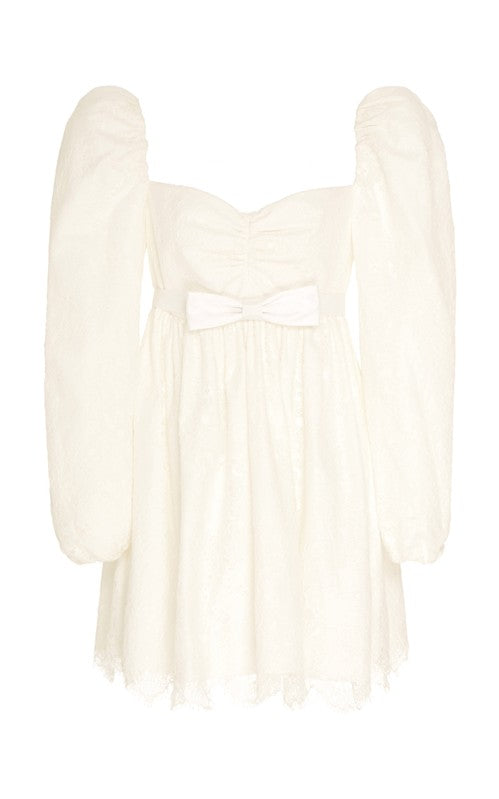 Borromeo White Lace Babydoll Dress
