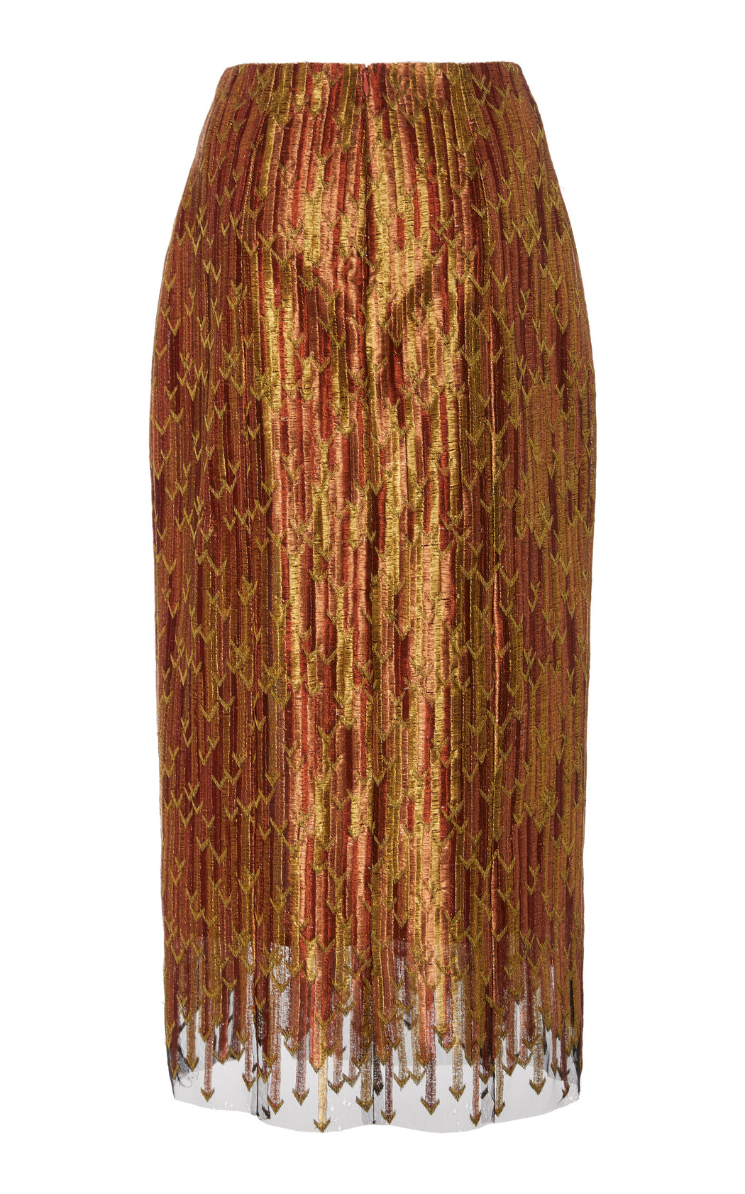 Caterina Metallic Brocade Pencil Skirt