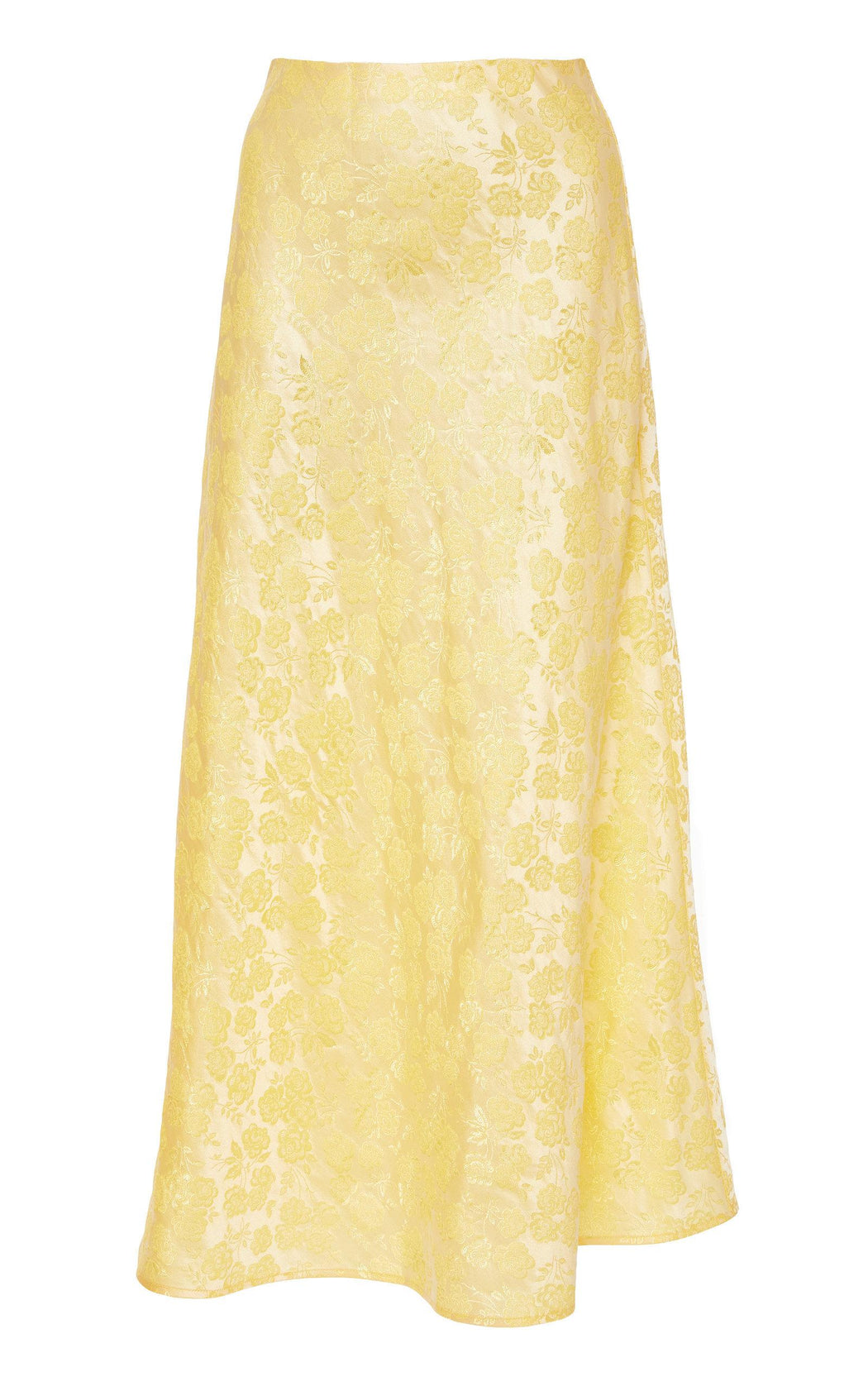 Crawford Yellow Floral Brocade Skirt