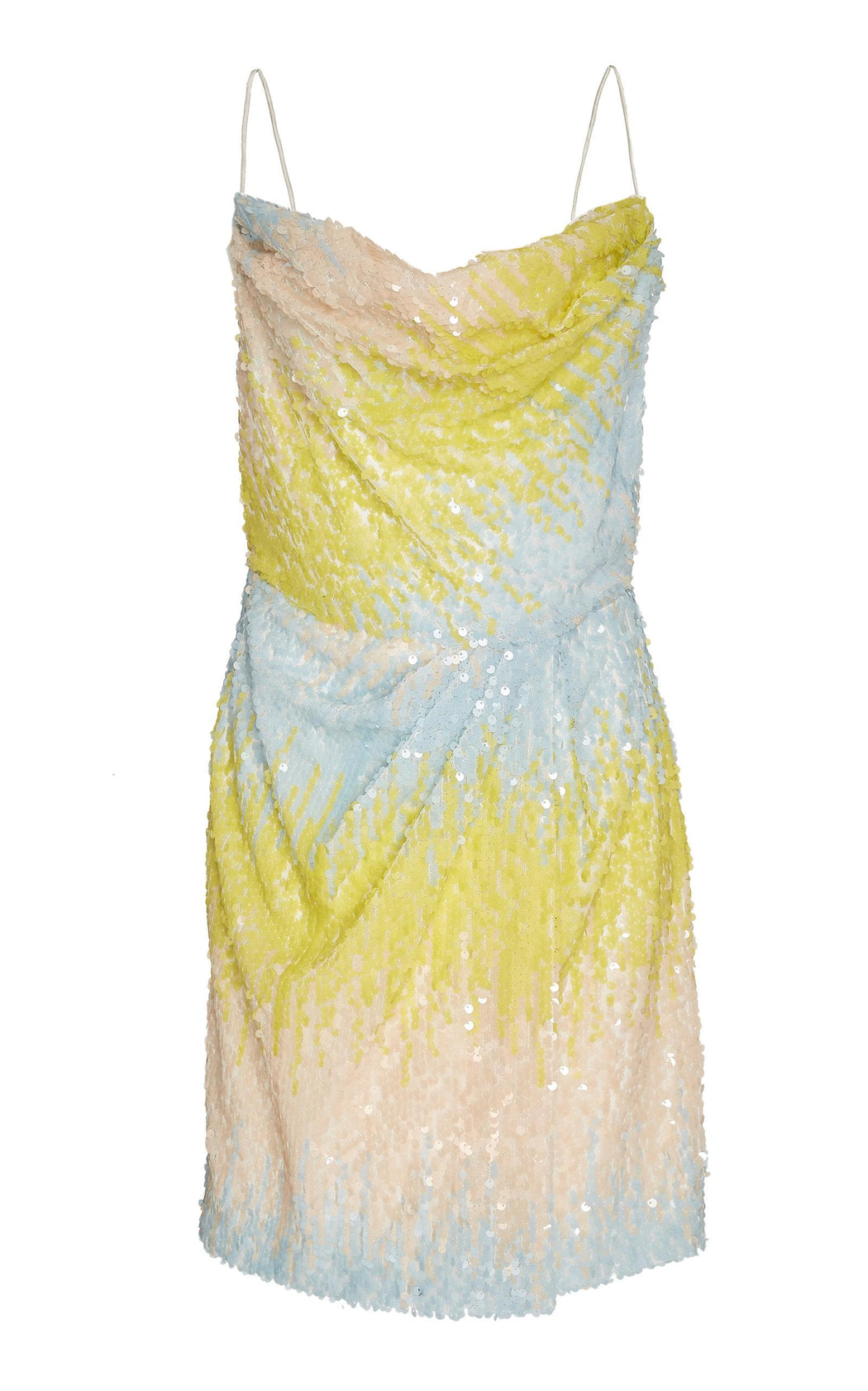 Edmund Pastel Ombre Sequin Mini Dress