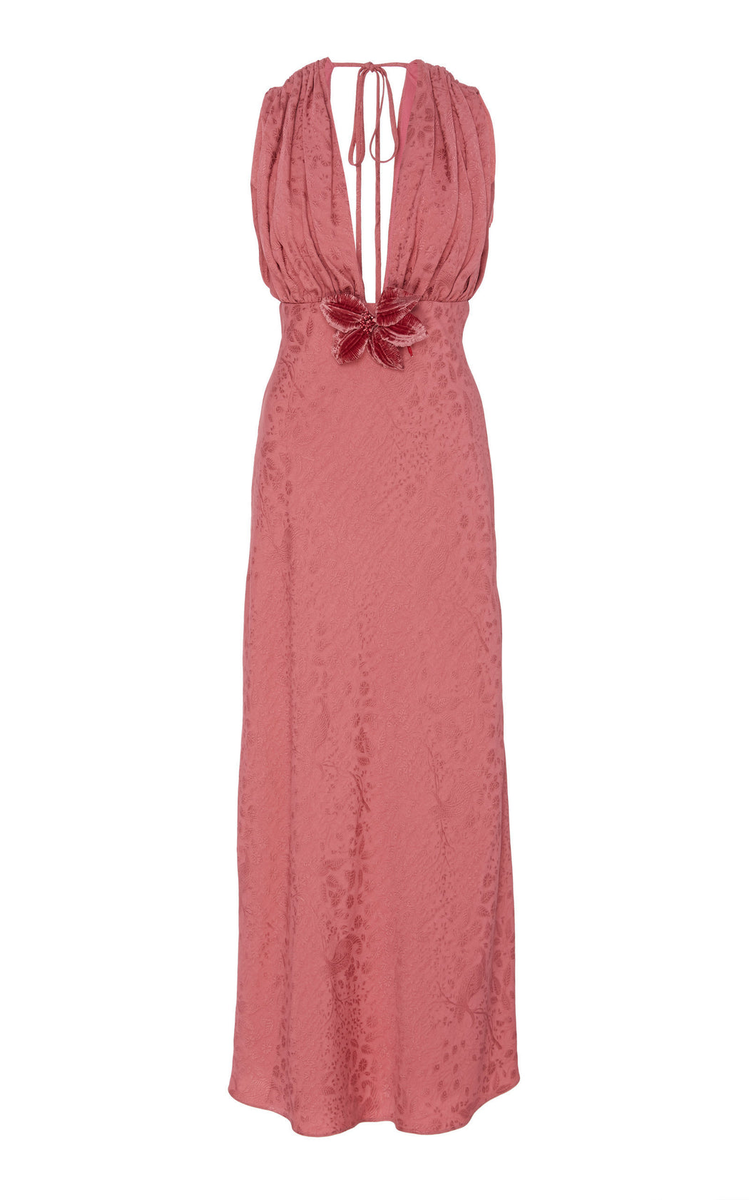 Eleanor Pink Floral Brocade Dress