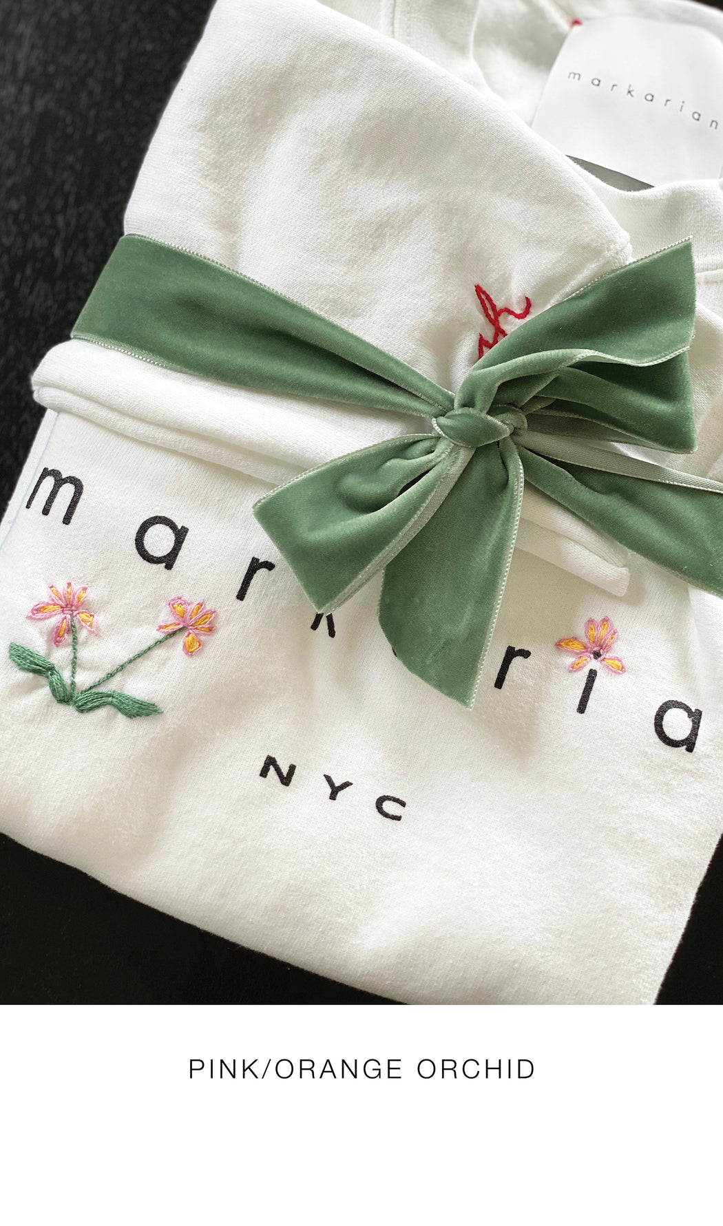 Summer Sweatshirt with Floral & Custom Initial Embroidery