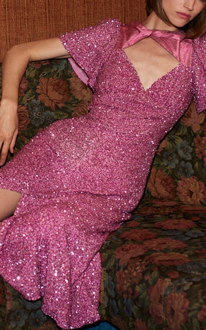 Ginger Pink Sequined Dress