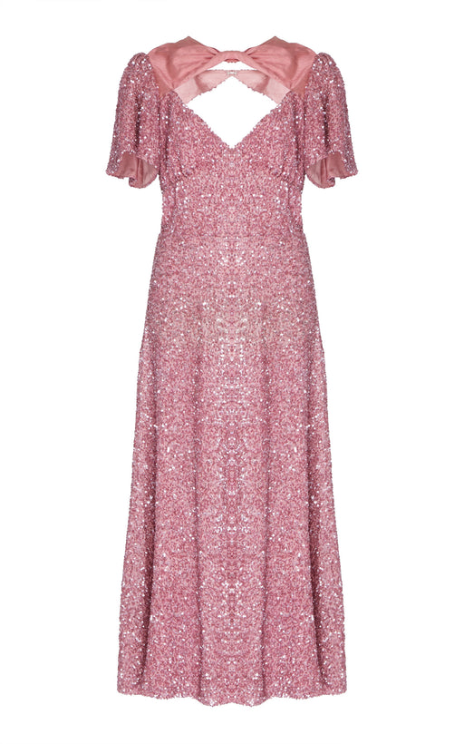 In Stock: Ginger Pink Sequined Dress